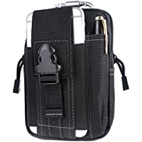 Belt Pouch Compact Outdoor Multi-Purpose Utility Gadget Tool Belt Waist Bag Pack with Extra Aluminum Carabiner