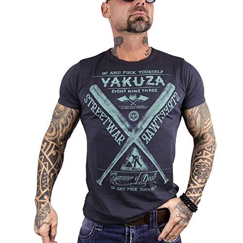 Yakuza Original Herren Streetwar T-Shirt Ebony