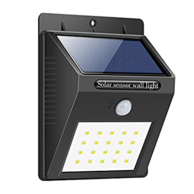 Solar Lights Outdoor,20 LED Motion Sensor Wireless Waterproof Night Lighting Bright Outside Security Light Solar Powered Spotlight for Garden, Wall, Path, Patio, Front Door, Deck, Driveway - iPosible - inexpensive UK light shop.