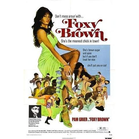 Foxy Brown Pam Grier Movie Poster 28cm x43cm 11inx17in