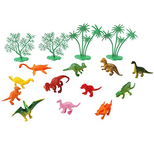 saniswink Exquisite Ornaments 16/Set Funny Jungle Dinosaurier Kuchen Ornaments Kinder Geburtstag Party Dekoration Einheitsgröße siehe abbildung