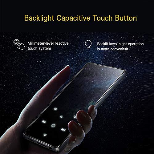 Mibao Lettore MP3 Bluetooth, MP3 Lostless Music Player 16GB con 2.4' TFT Display a Colori, Pulsante di Tocco, con Radio FM/Registratore Vocale/Immagine/E-book, Supporto Espandibile Max Fino a 64GB - 5