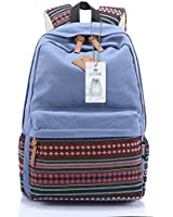 S-ZONE Vintage Aztec Tribal Unisex Canvas Rucksack 14-15 inch Laptop Travel School Bags