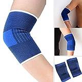 Kybbe NEUF 2pcs élastique Brace Muscle support Manchon de compression Sport Soulagement de la douleur Bleu, 1