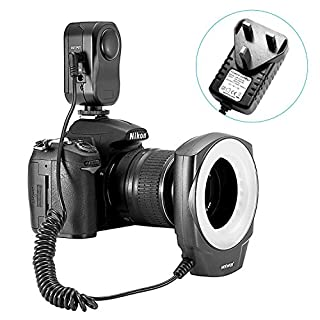 Neewer 48 Marco LED Ring Light with 6 Adapter Rings (49mm, 52mm