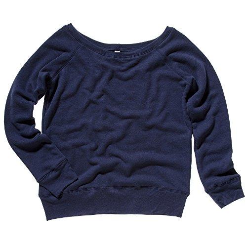 Bella Canvas - Sweat-shirt - Femme Large Bleu - Navy Heather