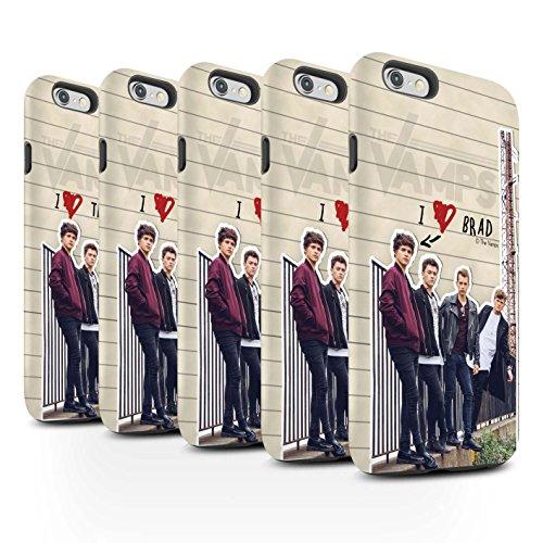 Officiel The Vamps Coque / Matte Robuste Antichoc Etui pour Apple iPhone 6+/Plus 5.5 / Pack 5pcs Design / The Vamps Journal Secret Collection Pack 5pcs