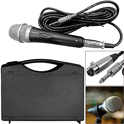 Professional Uni Directional Dynamic DJ Microphone Mic Wired Handheld Hand Held With 5m XLR 6.35MM JACK Lead And Case - Free & Fast Delivery In UK, Same Day Dispatch, UK Seller, 1 Year Warranty