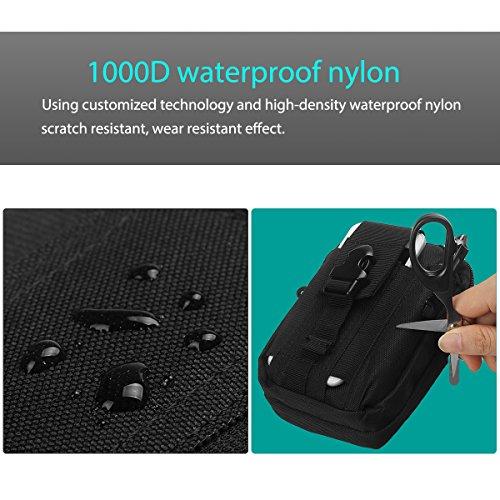 xhorizon Tattico molle EDC Pouch Utilità gadget cintura vita Borsa strumento Organizzatore con cellulare supporto fondina per iPhone X 8 7 Plus 6S Plus, S8 Plus, P8 Lite P9 Lite e altri #1