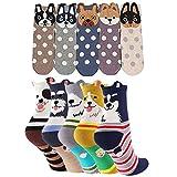 Donna Cotone Calzini Termici dei Calze, Cute Cartoon Calzini da Donna, Traspirante Donna Calze