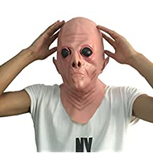 Queenshiny® látex máscara realista Partido de Cosplay de Halloween Disfraz (Alien-1)