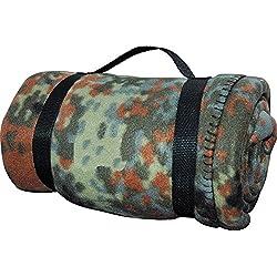US Army Style Forro Manta Cubierta picnic Edredón Base en varios colores - Flecos Camuflaje, 1.90 x 1.40 cm (LxB)