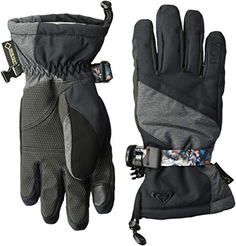 Roxy SNOW Junior's Crystal Gloves, True Black, L Black Snow Glove