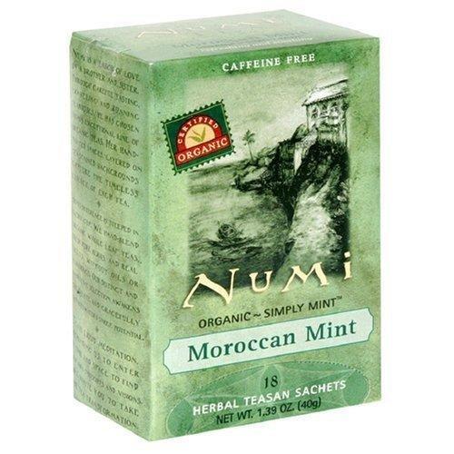 Numi Tea Moraccan Mint Teasans Refreshing and Soothing Herbal Tea - 18 Bags