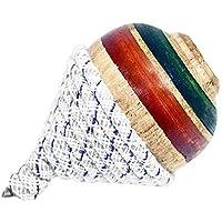 ScentRose Wooden Spinning Tops lattoo / bambaram / buguri / bongaram with String- Multi Color