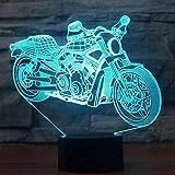 3D Illusion Night Light,Lampada Da Tavolo A Forma Di Motore Remo Touch Colore Della Luce Notturna Cambio Di Motociclette Lampada A Sospensione Lampada Led Usb 3D