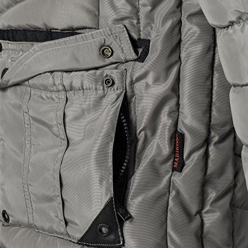 Marikoo Herren Übergangsjacke Steppjacke Gartoso (vegan hergestellt) 7 Farben S-3XL Grau