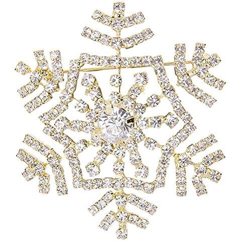 Mai regalo Fede silver-tone di cristallo austriaci