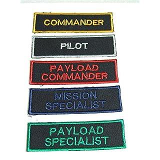 NASA Space Shuttle Astronaut Patch Set Pilot, Commander, Mission Specialist, Specialist, Commander