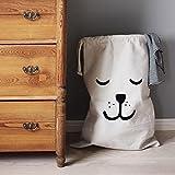 zedtom cesto porta biancheria tela sacchetto della lavanderia Box casa giocattolo Organizer-Orso