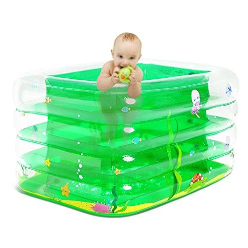 Badewanne Transparenter Aufblasbarer Kinderpool Große Isolierte Kinderbadewanne 135 * 95 * 66 Cm Aufblasbare Badewanne ( Farbe : Grün ) (Aufblasbare Pool 66)