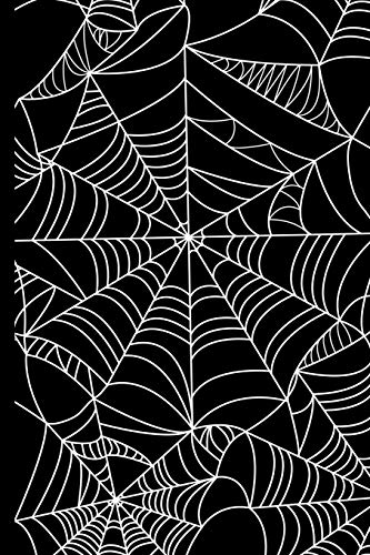 Spider Web Haunted Halloween: College Ruled Notebook