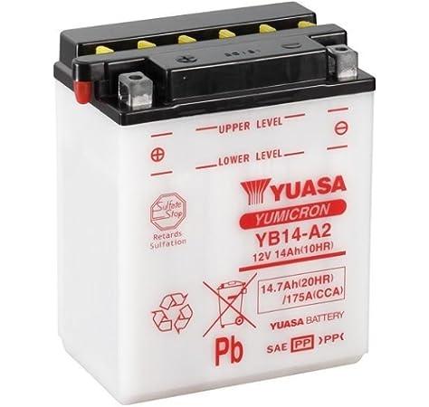 Batterie Yuasa Yb14 A2 Dc Offen Ohne Säure 12v 14ah Cca 175a 134x89x166mm Für Arctic Cat Cat 4x4 650 V2 Le Baujahr 2005 Auto