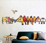 HALLOBO® Wandtattoo Vogel Vögel Papagei Birds XXL Wandsticker Aufkleber Kinderzimmer Wohnzimmer Schlafzimmer Esszimmer