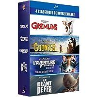 """Coffret 4 films cultes - Gremlins + Les Goonies + L'Aventure intérieure + Le Géant de fer - """"Les références du film READY PLAYER ONE"""" - 4 Blu-Ray"""