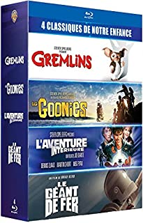 "Coffret 4 films cultes - Gremlins + Les Goonies + L'Aventure intérieure + Le Géant de fer - ""Les références du film READY PLAYER ONE"" - 4 Blu-Ray (B0791WFFK4) 
