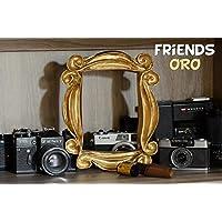 LaRetrotienda El MARCO de FRIENDS edición DORADA, la serie Friends de tv ENVIO GRATIS, URGENTE 24-48 horas
