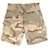 Mil-Tec Bermuda Ripstop Cargo Combat Mens Army Style Shorts Fishing Desert Camo