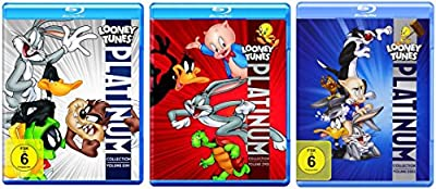 Looney Tunes Platinum Collection Vol. 1 2 3 - BUGS BUNNY + DUFFY DUCK + PORKY PIG + ROAD RUNNER + SYVESTER & TWEETY .. Blu-Ray