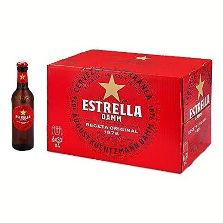 Estrella Damm Cerveza Rubia Paquete de 24 x 330 ml Total 7920 ml