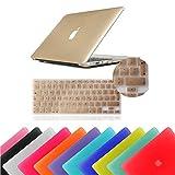 Eagle® Coque à clipser rigide en caoutchouc enclipsable + protection clavier incluse Macbook Pro 13' Inch (Model: A1278) doré