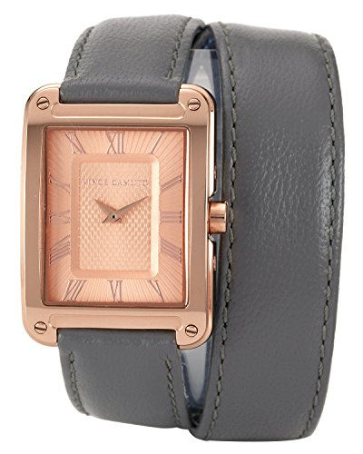 Vince Camuto da donna in oro rosa con orologio al quarzo con Display analogico e cinturino in pelle, colore: grigio, VC/5032RGGY