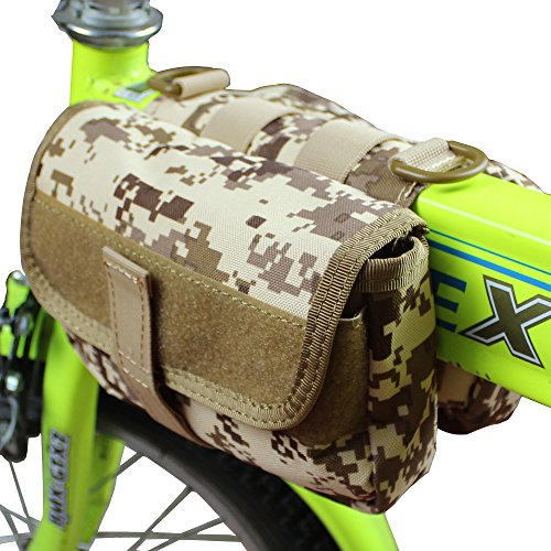 xhorizon® Hochdicht Wasserfest Militärtuch Fahrrad Radfahren RahmenPannier Seitentasche Front Tube Bag Double Side Bag Tactical Camouflage Style Camouflage Khaki