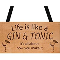 Gin & Tonic Sign Funny Gift