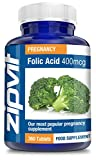 Folic Acid 400mcg, Pack of 360 Tablets, by Zipvit Vitamins Minerals & Supplements from Zipvit
