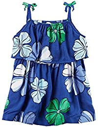 Carters Baby Girls Floral Poplin Dress 3 Months