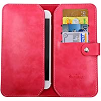 Bandmax Genuine Leather Wallet Case High Quality Soft Slim Leather