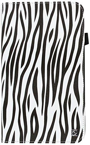 Fintie Zebra Folio Classic Leder Fall für 17,8cm Samsung Galaxy Tab 3, Schwarz - Klappe Zebra