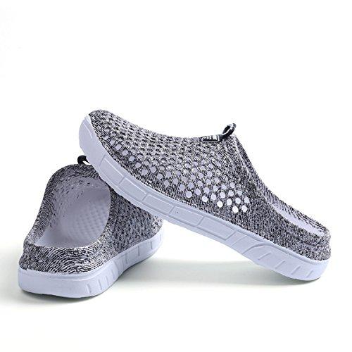Kootk Femmes Pantoufles Hommes Plage Pantoufles Chaussures Trou Respirant Slip-On Chaussures Sandales Adulte Slippers Sabots Marcher Jardin Eau Chaussures Gris