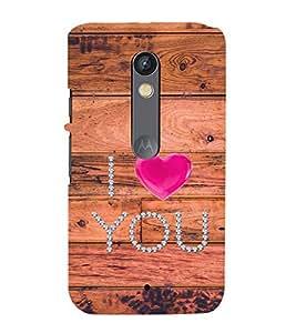 99Sublimation I love you 3D Hard Polycarbonate Back Case Cover for Motorola Moto X Force :: Dual SIM