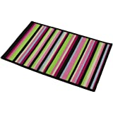 JVL Machine Washable Bright Stripes Entrance Indoor Door Mat