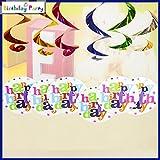 Funcart STAR BIRTHDAY Theme Swirl Decora...