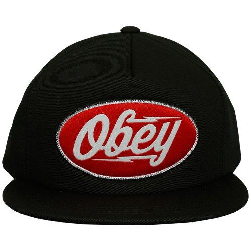 Obey–Gorra con visera plana para hombre Gasoline–Black