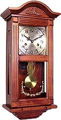 Idea Regalo - 72047 Orologio a pendolo in legno da parete con movimento meccanico carica 31 giorni