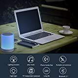 Lmpara-Romntica-y-Altavoz-ICOCO-Lmpara-de-Noche-con-Altavoz-Bluetooth-40-Luz-del-Proyector-LED-Visualizacin-de-Hora-y-Reproductor-de-Msica-Compatible-con-Tarjeta-TF-iPhone-iPad-Android-Telfonos-Inteli