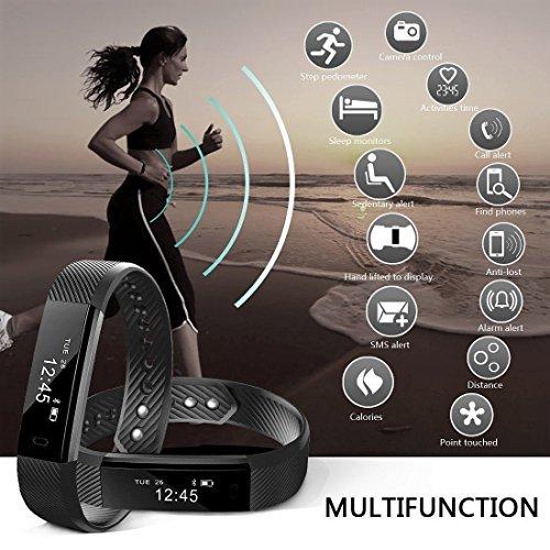 NAKOSITE SB2433 Reloj inteligente mujer hombre Smartwatch Pulsera actividad relojes Inteligentes deportivo,  Podometro Contador de Pasos,  Calorías,  Sueño, Distancia,  Android 5.0 o IOS 8.0 y posteriors